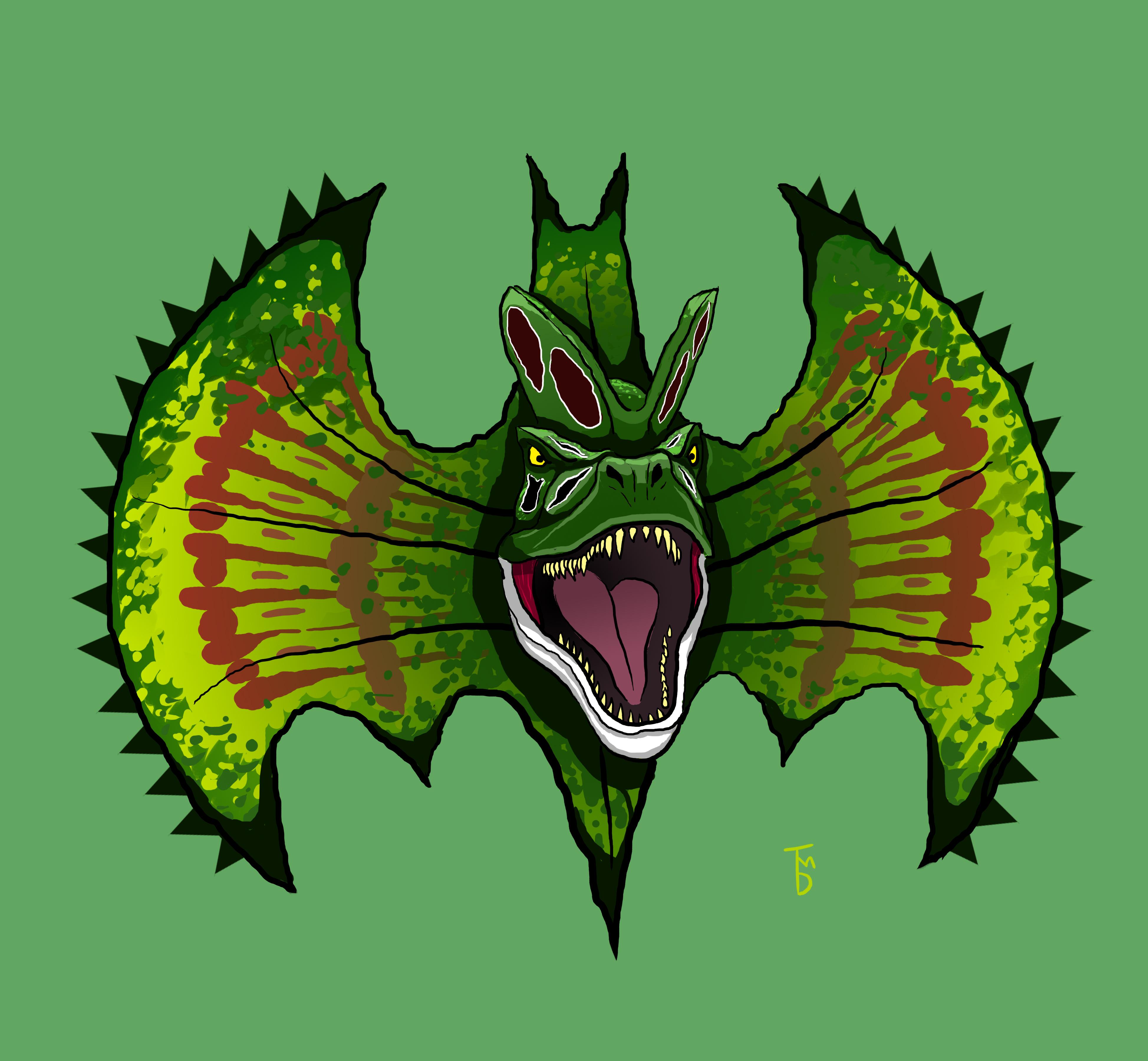 Dilophosaurus Bat-Symbol