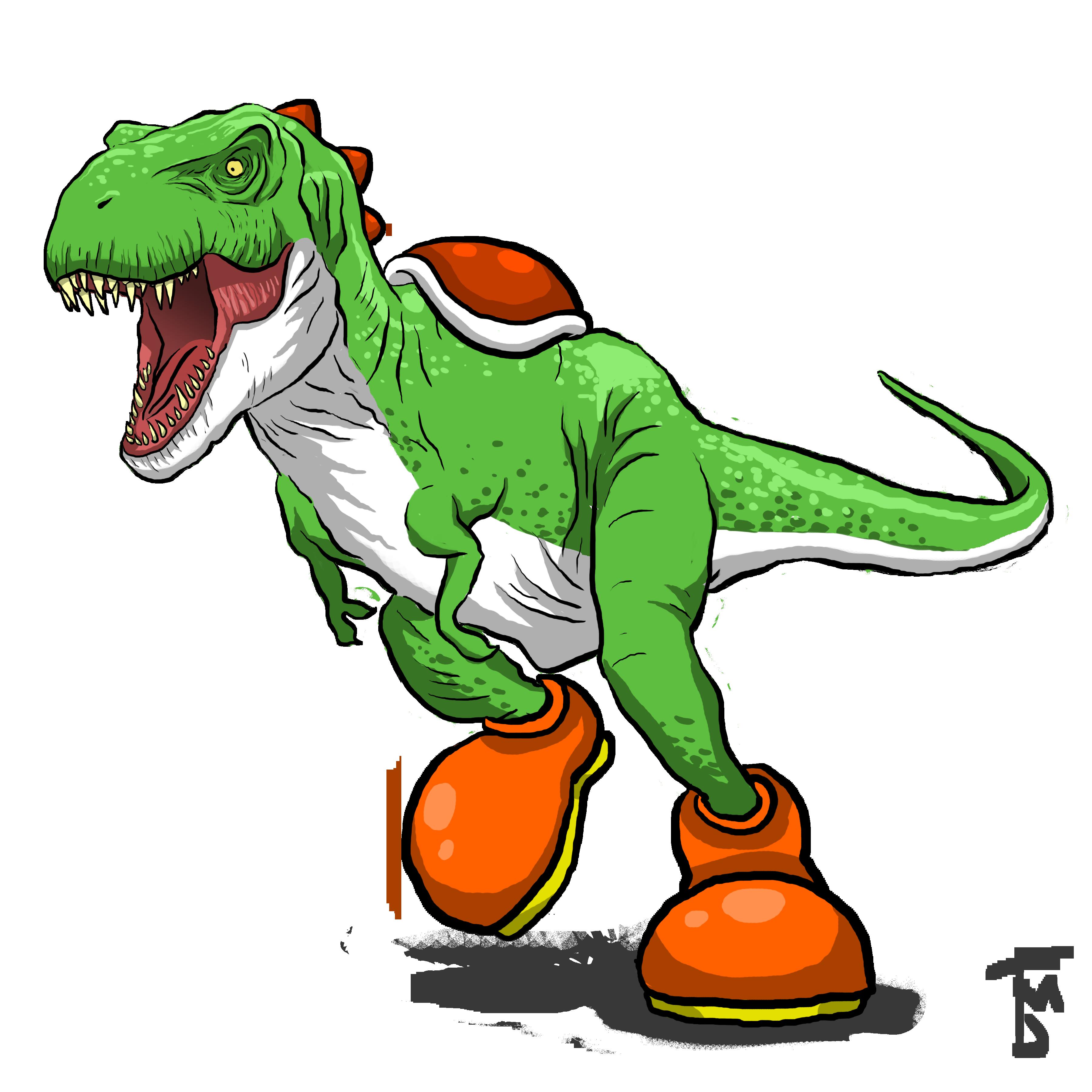Yoshi T-Rex Crossover