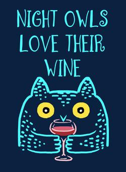 night owls love their wine design