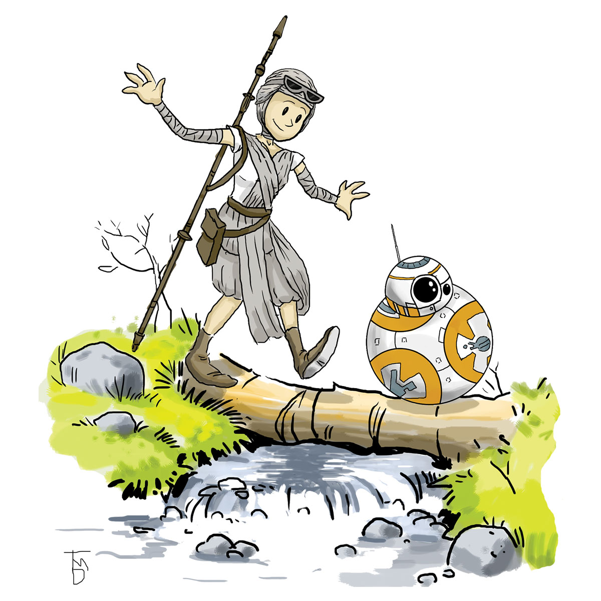 Force Awakens/Calvin and Hobbes