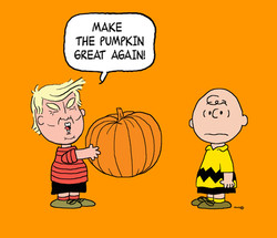 Charlie Brown and Donald Trump