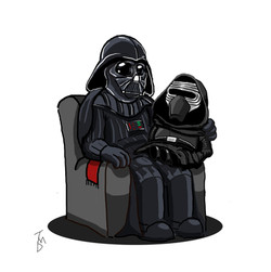 Grandpa Vader and Little Kylo