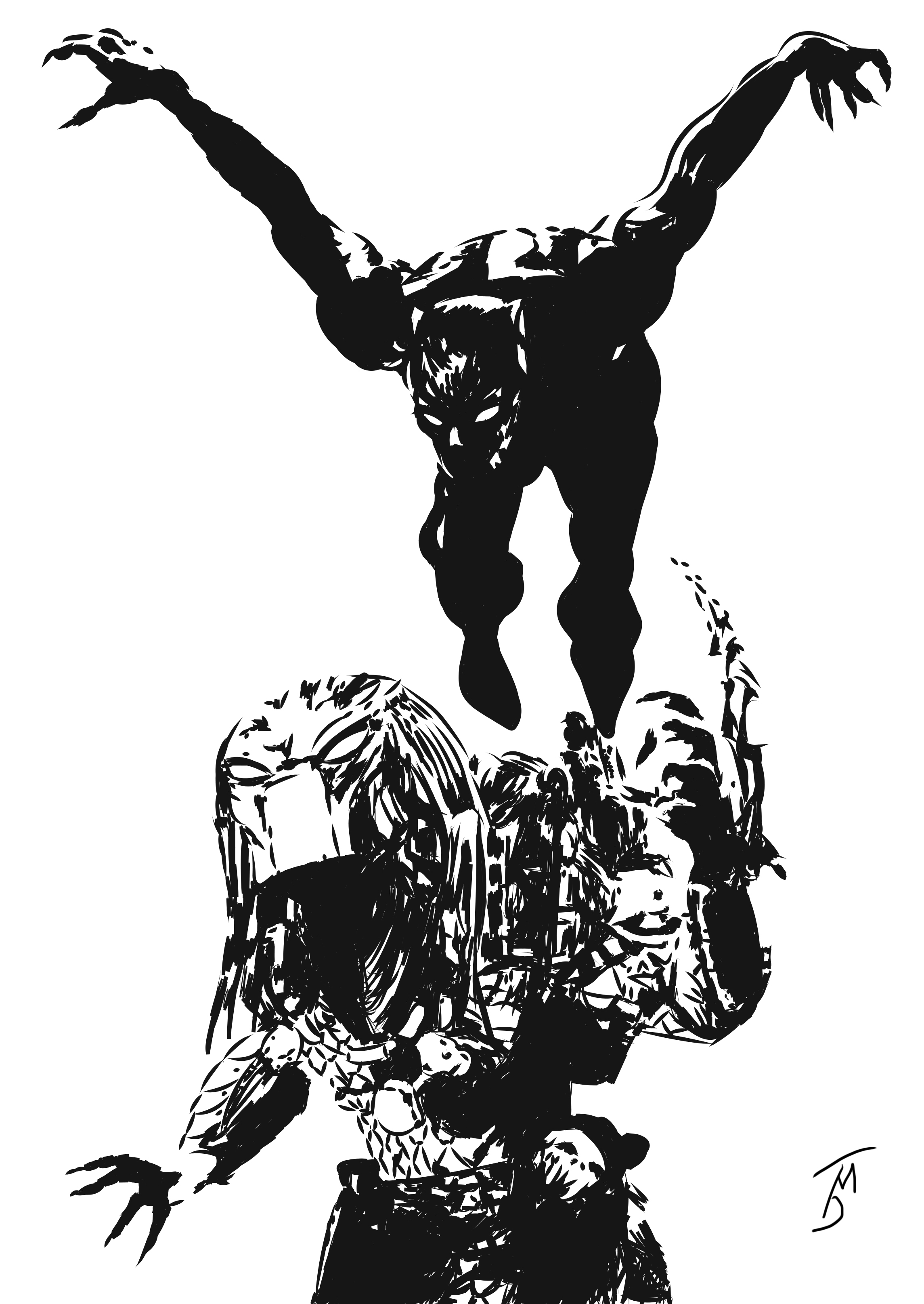 Black Panther Vs. The Predator