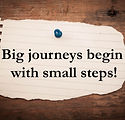 Text big journeys begin with small steps