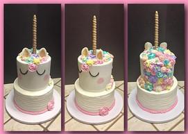 Unicorn tiered cake