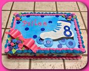 Roller skate sheet cake