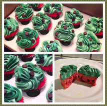 Watermelon themed cupcakes