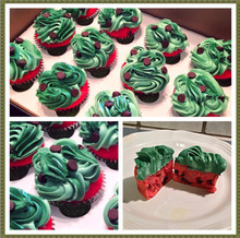 Watermelon themed cupcakes
