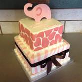 Animal print tiered cake