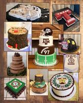 Groom cake collage