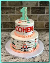 Wild one tiered cake