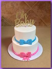 Baby shower tiered cake