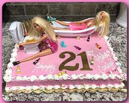 Drunk Barbie sheet cake