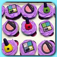 Spa make-up cupcakes