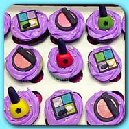 Spa make-up cupcakes
