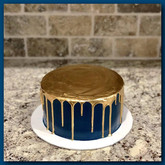 Gold drizzle layer cake