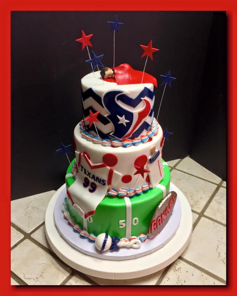 Houston Texans Tiered Cake