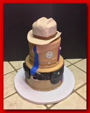 DPS officer tiered cake