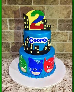 PJ Masks tiered cake