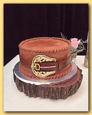 Belt buckle groom's cake