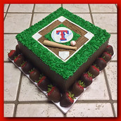 Texas Rangers layer cake
