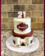21st tiered birthday cake