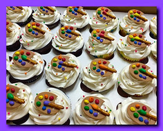 Color palette cupcakes