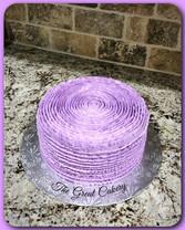 Ruffled layer cake