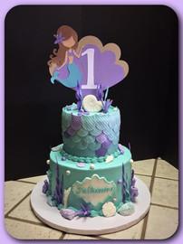 Mermaid tiered cake