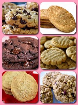 Variety of homestyle cookies