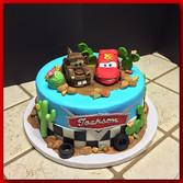 Cars layer cake