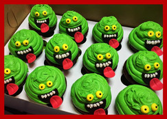 Slimer cupcakes