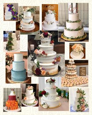 Wedding cake collage