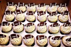 Football topper cupcakes