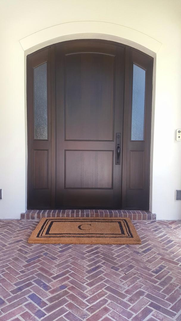Arched Mahogany Door