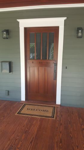 Craftsman style mahogany door
