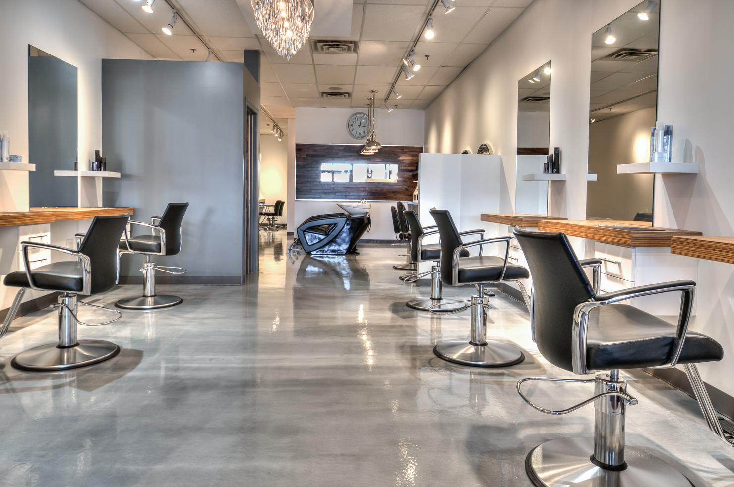 Époxy métallique - salon de coiffure