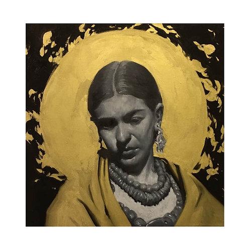 """""""Frida Kahlo Black and Gold"""" - SOLD"""