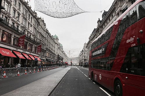 The lonely red at Regent St. London.- SOLD