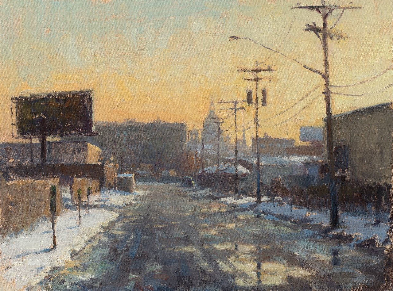 """December Sunset Near Farmer's Market"" by Carl Bretzke"
