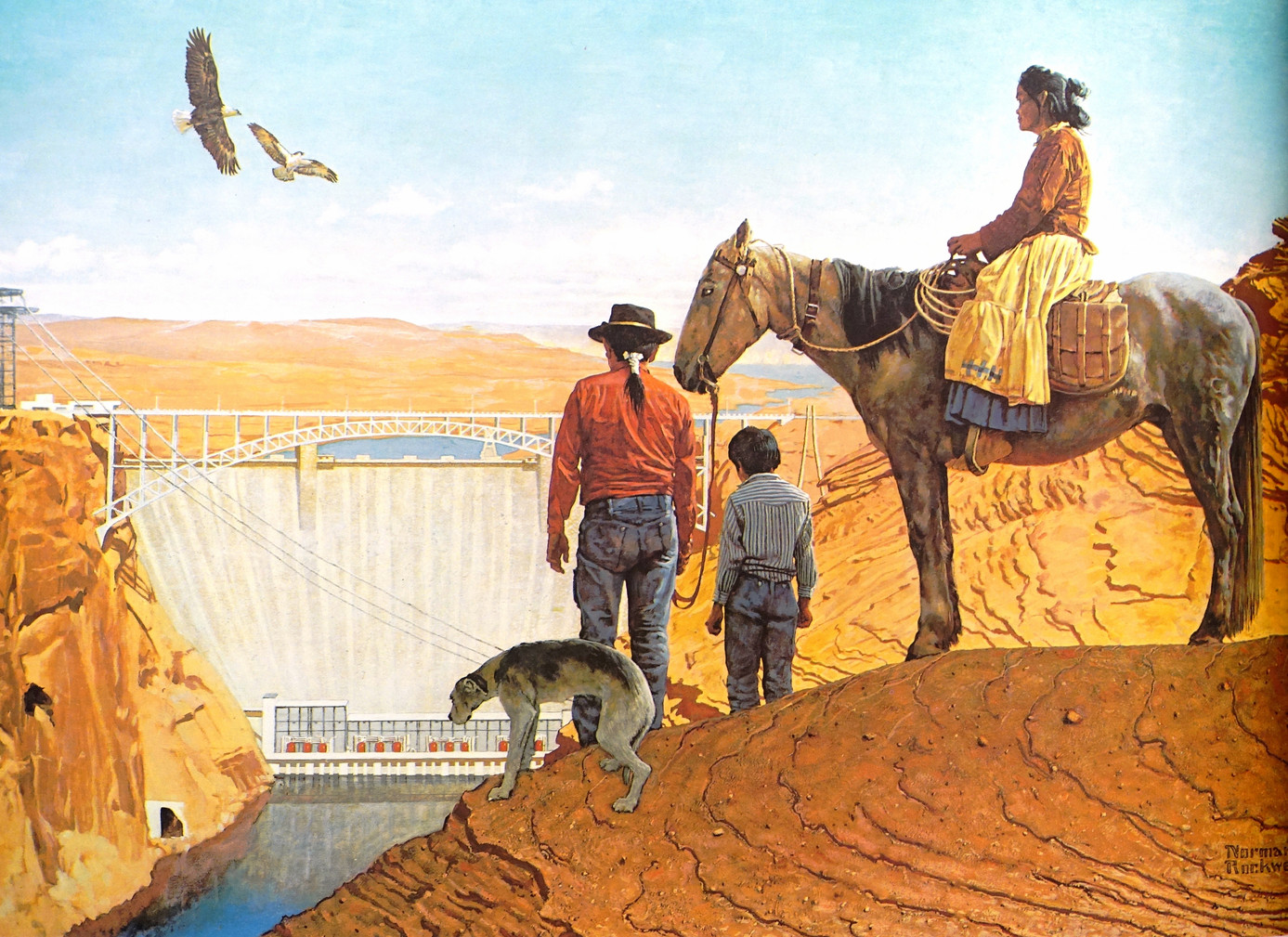 """Glen Canyon Dam"" by Norman Rockwell"