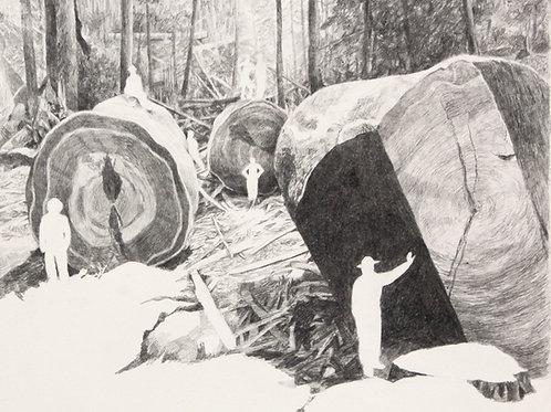 anthropocene record i (forest ghost)