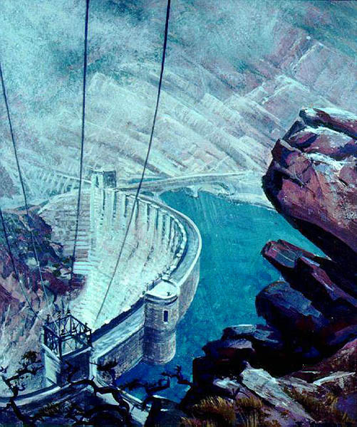 """""""Roosevelt Dam"""" by Eugene Kingman"""