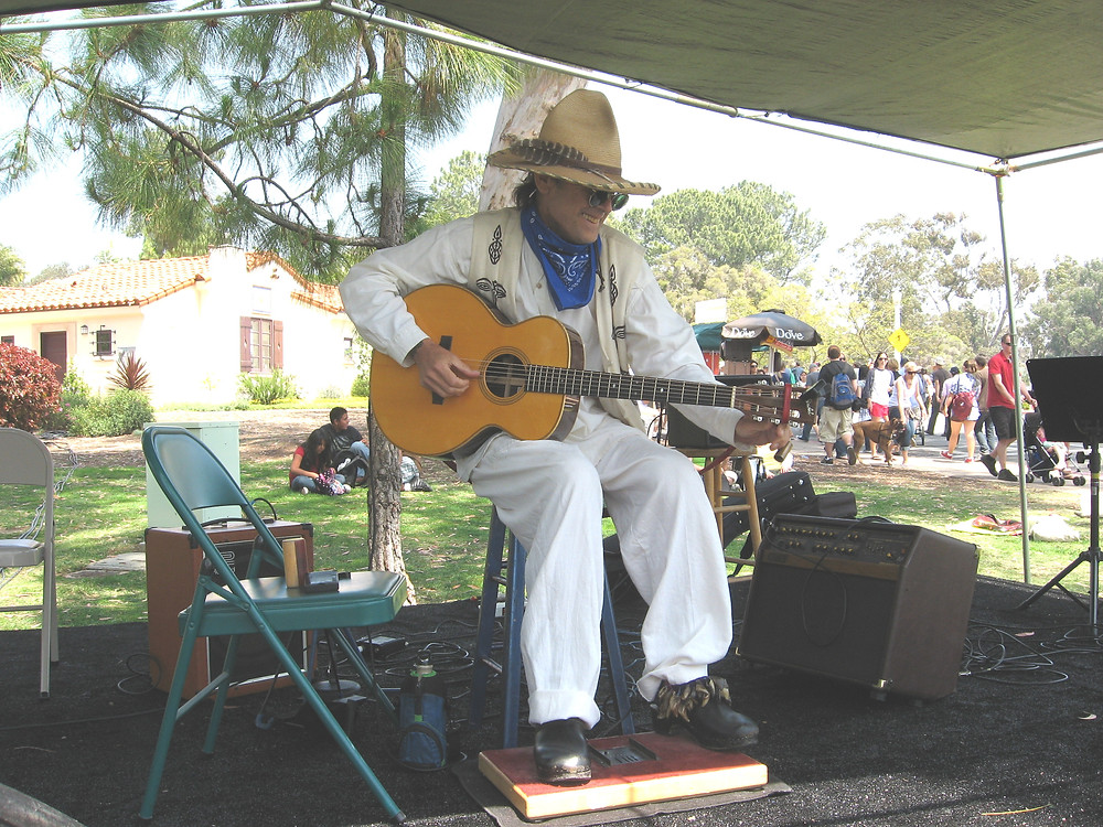Steve playing at Earth Day in Balboa Park S.D.