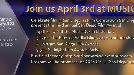 San Diego Film Awards Sunday & Distribution to Amazon & I-Tunes via Distribber