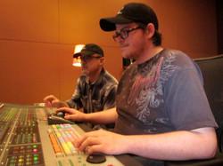 Alec Moore & Tom Zizzi mixing sound