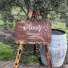 Merbau Welcome Sign