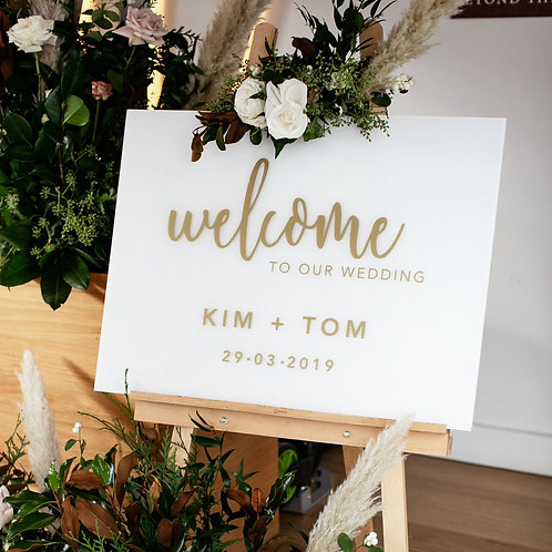 THE 'PAM' WELCOME SIGN