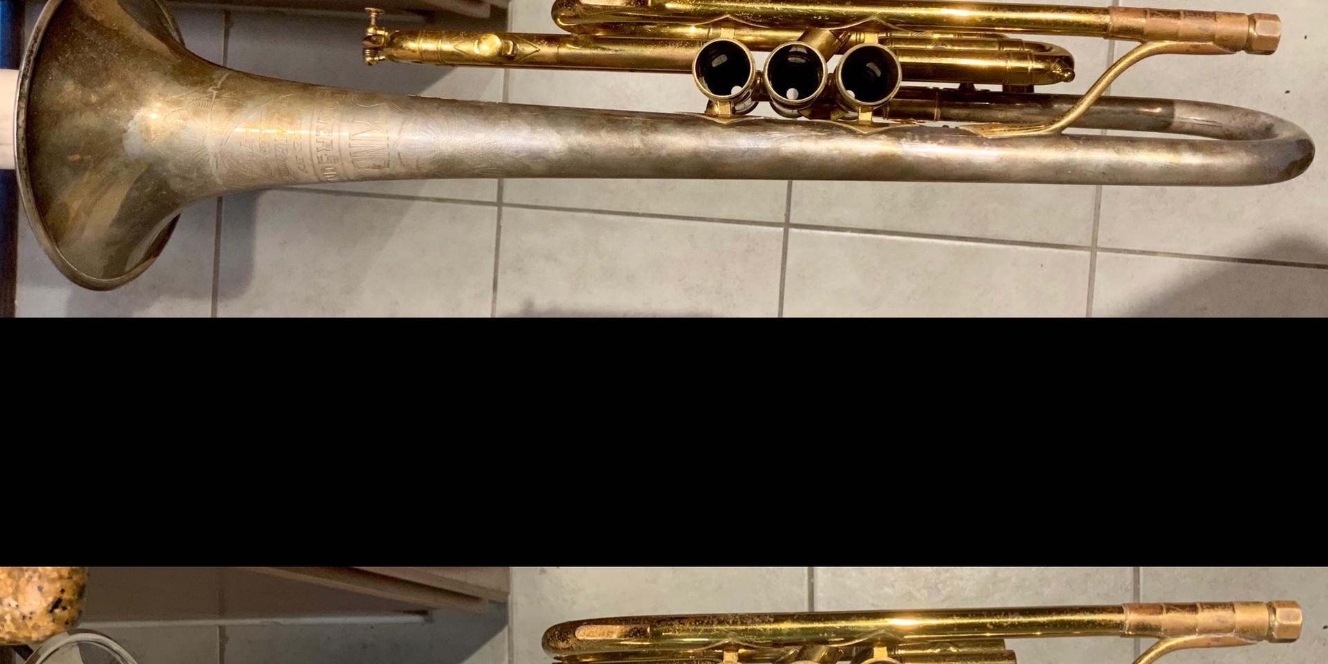 Before and after polishing