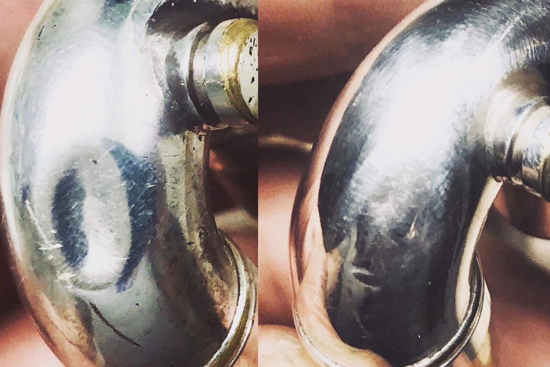 2nd valve slide dent removed